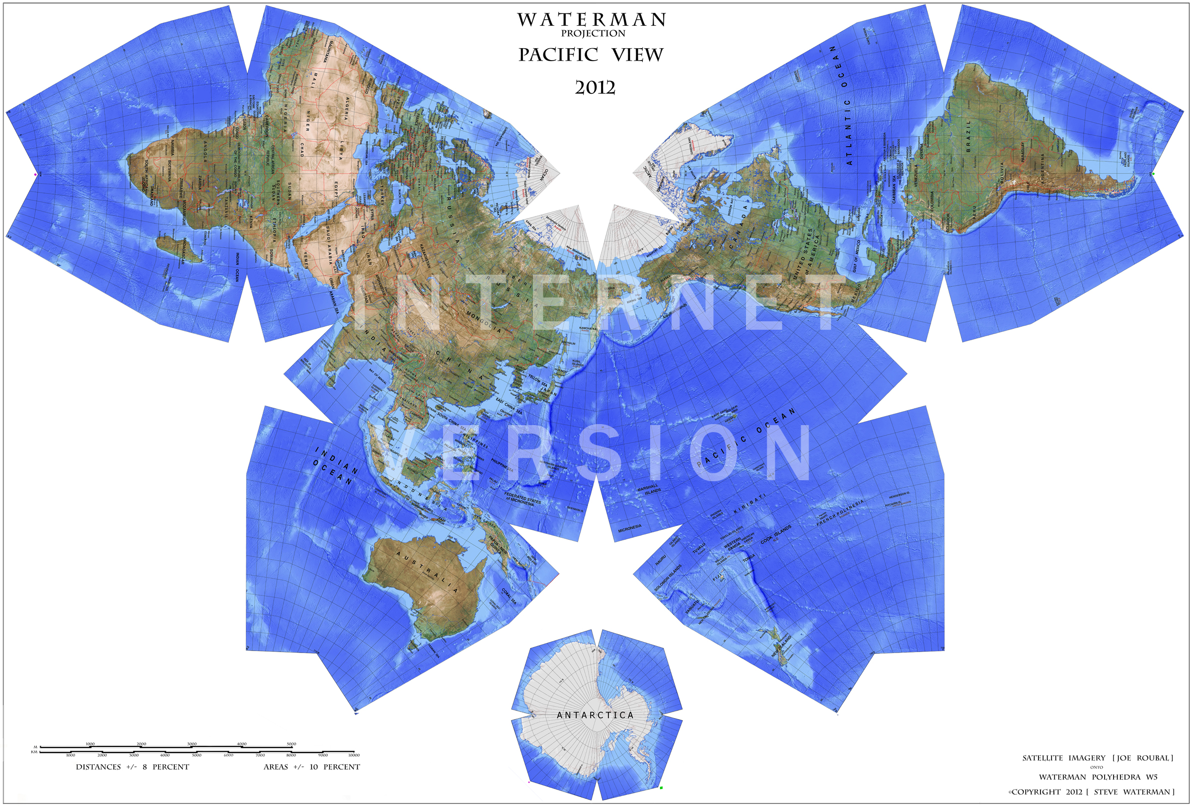 Waterman map probably the most accurate map of the world purchase the beautiful waterman butterfly mapthe worlds most accurate map projection a free bonus map with every map purchase sciox Choice Image