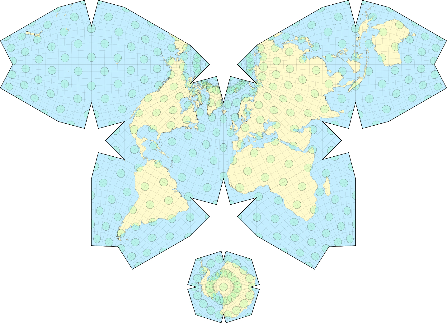 The waterman butterfly projection 1800 x 1279 mapporn but areas are still more accurate than mercator gumiabroncs Gallery